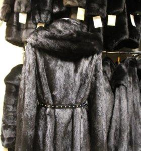 НОРКОВАЯ шуба чёрный бриллиант