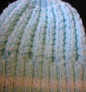 Детская шапка для весныс шарфом
