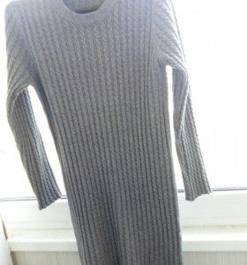 Платье вязаное(серое)