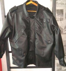Куртка из кожзама
