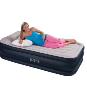 Кровать матрас полуторка intex с насосом, новая