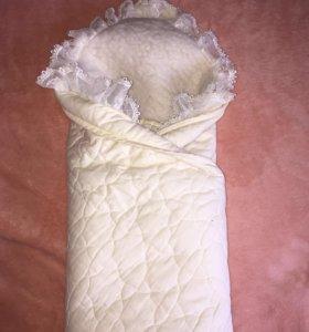 Одеяло-Конверт на выписку, овчина