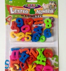 Магнитный алфавит и цифры
