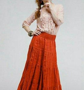 Новая юбка лен с биркой 48-50
