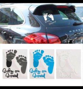 Наклейка на авто ребёнок в машине