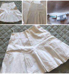 Юбка белая из джинсы