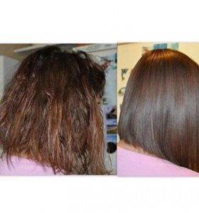 Кератиновое выпрямление и восстановление волоса