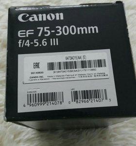 объектив canon EF 75-300mm, f/4-5,6
