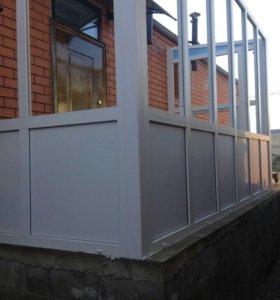 Металлопластиковые пристройки, окна, двери
