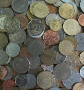 140 иностранных монет.