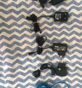 4 зарядных устройства и кабель