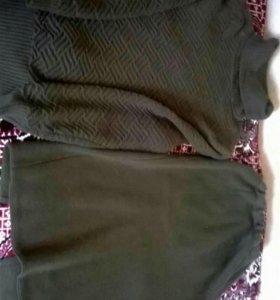 Костюм теплый (кофта и юбка)