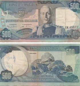 500 эскудо 1972 год, Ангола