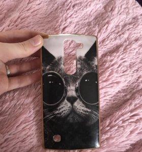 Чехол на LG Spirit (кошка)