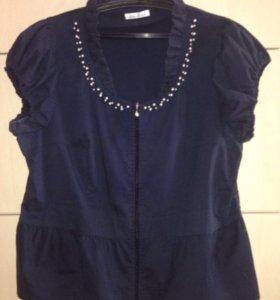 Блузка - пиджак р.56