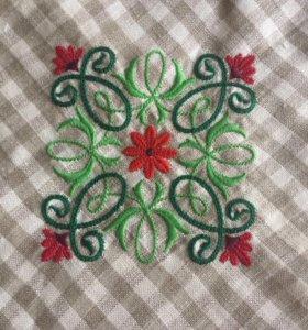 Льняная скатерть с салфетками
