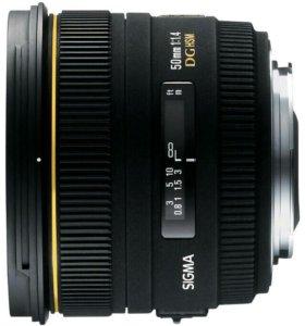 Портретник Sigma AF50 mm f/1.4 EX DG canon