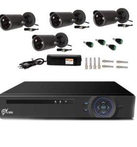 Уличный AHD комплект видеонаблюдения на 4 камеры