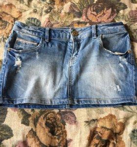 Юбка джинсовая в идеале Pull&bear 36р (44)