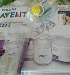 Автоматический Молокоотсос AVENT+пакеты для молока