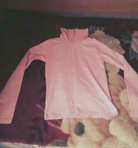 Водолазка (серая,розовая)