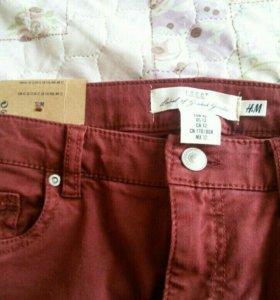Джинсы кирпичного цвета, штаны