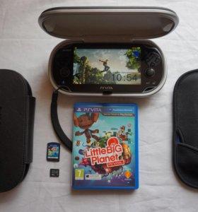 PS vita (Wi-Fi) + игра + чехлы + 32Gb