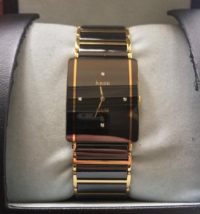 Часы RADO оригинал , Керамика,золото, 4 бриллианта