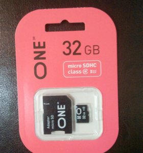 Micro SD 32Gb ONE+CD адаптер
