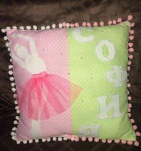 Именные подушки, буквы подушки