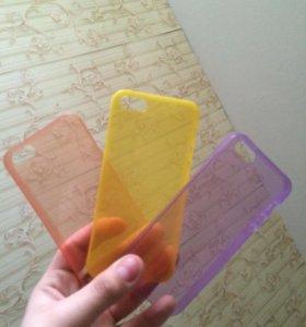 Три тонких пластиковых чехла