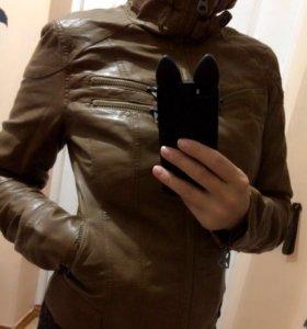 Куртка кожаная, б/у