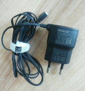 Зарядное устройство Nokia (AC-15E), гарнитура