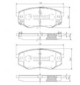 колодки тормозные передние ix 35 sonata sportage