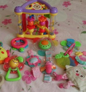 Игрушки погремушки пакетом для малышей