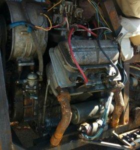 Двигатель + коробка (запорожец)