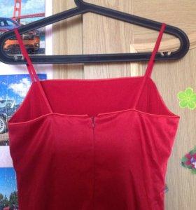 красное атласное платье Teresa Copias
