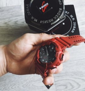 Часы g-shock protection красные