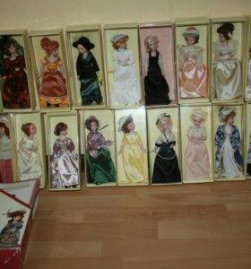 "Куклы фарфор коллекционные ""Дамы эпохи"""