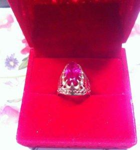 Кольцо заводской золотой с рубином