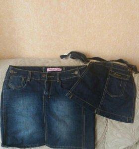 Юбка сарафан джинсовый