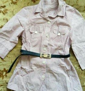 Рубашка с ремнем