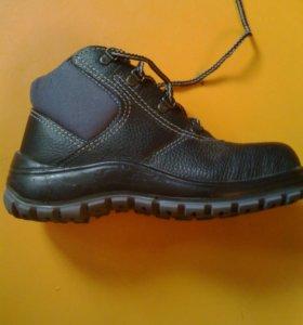 Ботинки усиленные защитные. Кожа.
