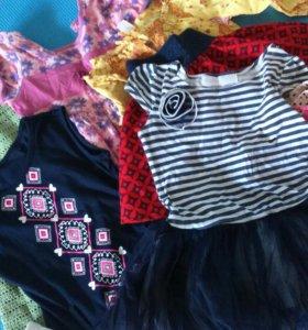 Пакет вещей на девочку размер 110-116