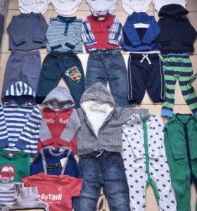 Пакет фирменных вещей на мальчика 86/92 + обувь