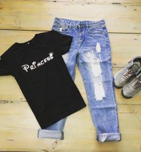 Майки, джинсы