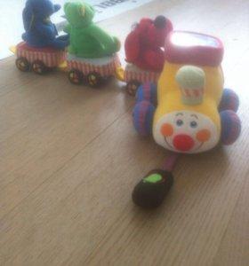 Паравозик, развивающая игрушка