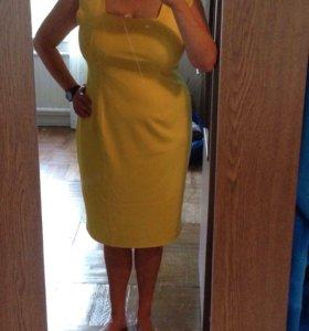 Жёлтое НОВОЕ платье трикотаж