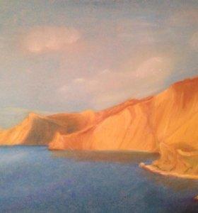 """Картина """"Вид на агатовый пляж"""""""