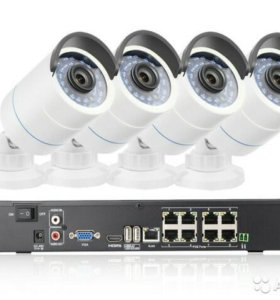 Комплект видеонаблюдения IP POE, NVR, новый